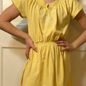 Gap Yellow Flower Dress